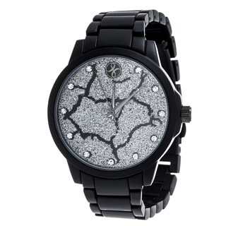 Fortune NYC Black Alloy Case and Strap w/ Broken Dial Design Watch