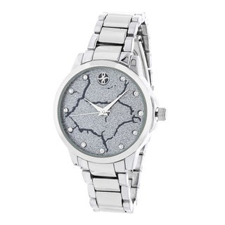 Fortune NYC Silver Alloy Case and Strap w/ Broken Dial Design Watch