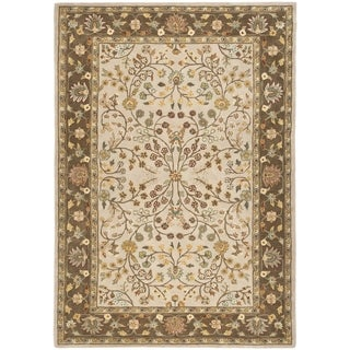 Safavieh Hand-hooked Total Performance Ivory / Taupe Acrylic Rug (9' x 12')