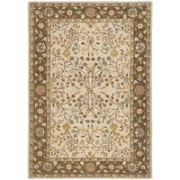Safavieh Hand-hooked Total Performance Ivory / Taupe Acrylic Rug - 9' x 12'