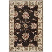 Safavieh Hand-hooked Total Performance Brown / Ivory Acrylic Rug - 8' x 10'