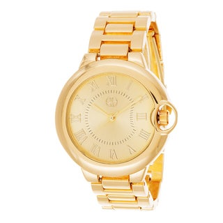 Fortune NYC Gold Alloy Case and Strap w/ Roman Numerial Markers Watch