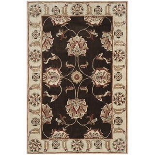 Safavieh Hand-hooked Total Performance Brown / Ivory Acrylic Rug (9' x 12')