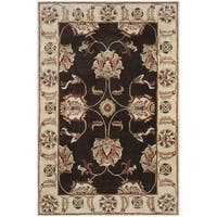 Safavieh Hand-hooked Total Performance Brown / Ivory Acrylic Rug - 9' x 12'