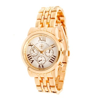Fortune NYC Rose Gold Alloy Case and Strap Watch