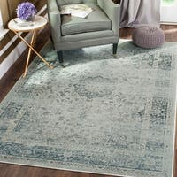Safavieh Vintage Oriental Light Blue Distressed Silky Viscose Rug - 7' x 10'