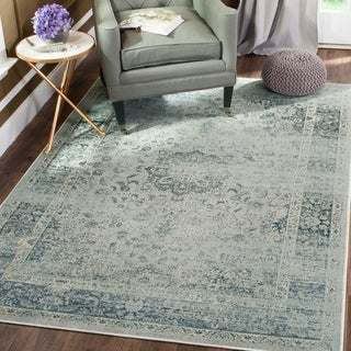 Safavieh Vintage Oriental Light Blue Distressed Silky Viscose Rug 7 X