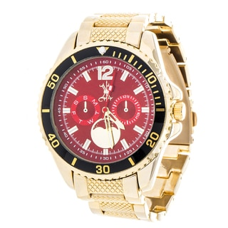 Brooklyn Exchange Red Dial w/ Gold Case and Strap Watch