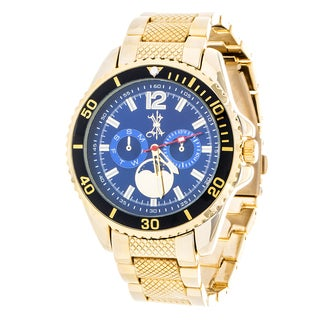 Brooklyn Exchange Blue Dial w/ Gold Case and Strap Watch