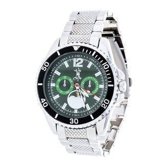 Brooklyn Exchange Green Dial w/ Silver Case and Strap Watch