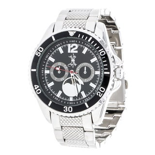 Brooklyn Exchange Black Dial w/ Silver Case and Strap Watch