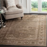 Safavieh Vintage Oriental Mouse Brown Distressed Silky Viscose Rug - 9' x 12'