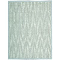 Nourison Silken Textures Aqua Area Rug