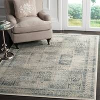 Safavieh Vintage Stone/ Blue Distressed Panels Silky Viscose Rug - 9' x 12'