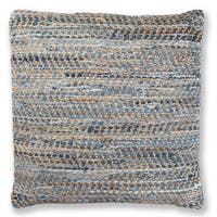 Blue Jeans & Hemp 27-inch Throw Pillow