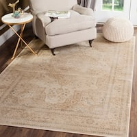 Safavieh Vintage Oriental Cream Distressed Silky Viscose Rug - 7' X 10'