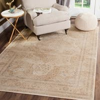 Safavieh Vintage Oriental Cream Distressed Silky Viscose Rug - 8' x 11'