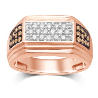 Unending Love 10k Rose Gold 3/4ct TDW Diamond Gent Ring