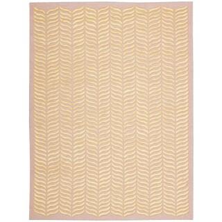 Nourison Silken Textures Blush Area Rug (5'6 x 7'6)