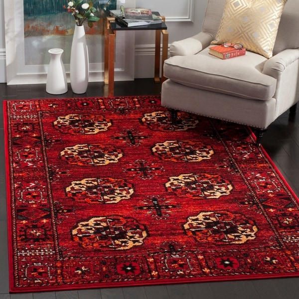 Shop Safavieh Vintage Hamadan Traditional Red Multi Area