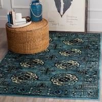 "Safavieh Vintage Hamadan Traditional Blue/ Multicolored Rug - 6'7"" x 9'"