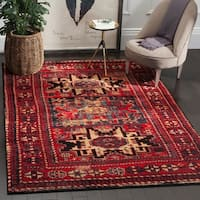 Safavieh Vintage Hamadan Traditional Red/ Multicolored Distressed Rug - multi - 8' x 10'