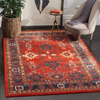 Safavieh Vintage Hamadan Traditional Orange/ Blue Distressed Rug - multi - 7' X 10'