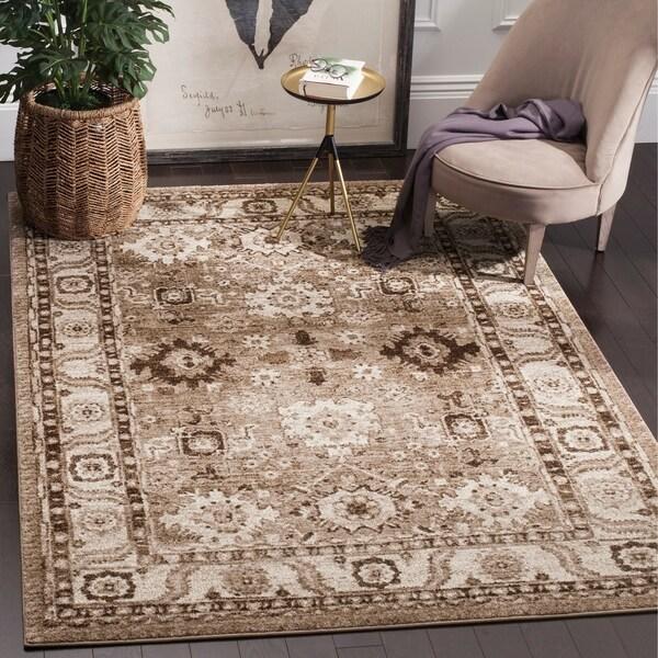 shop safavieh vintage hamadan traditional taupe distressed rug 8