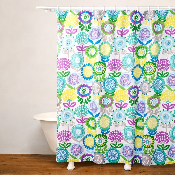 Crayola Pointillist Pansy No Liner Shower Curtain - Free Shipping ...