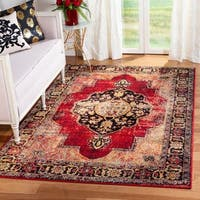 Safavieh Vintage Hamadan Medallion Red/ Multi Distressed Rug - 9' x 12'