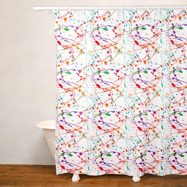 Shop Crayola Splat No Liner Shower Curtain