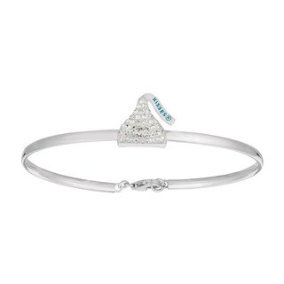 Sterling Silver Women's Hershey Kiss Bangle Bracelet