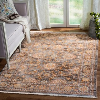 Safavieh Vintage Persian Light Brown/ Multi Distressed Silky Rug (9' x 12')