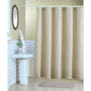 Artistic Linen Aram Beige Polyester Shower Curtain