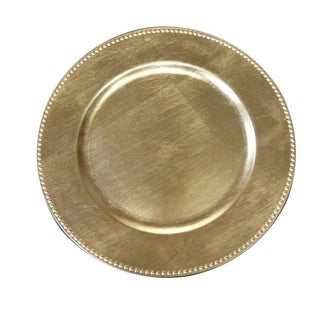Benzara Urban Port Gold Charger Plates (Set of 24)
