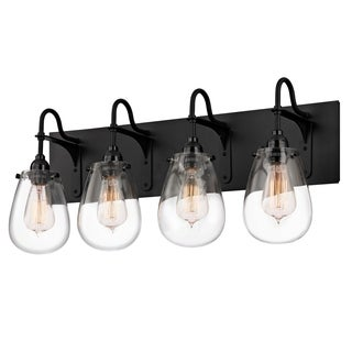 Sonneman Lighting Chelsea 4-light Satin Black Vanity