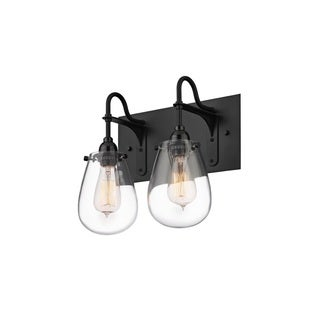 Sonneman Lighting Chelsea 2-light Satin Black Vanity
