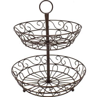 Sorbus Bronze Stainless Steel 2-tier Countertop Fruit Basket Holder and Decorative Bowl Stand|https://ak1.ostkcdn.com/images/products/12662707/P19450204.jpg?impolicy=medium
