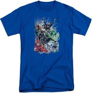 JLA/Justice League #1 Short Sleeve Adult T-Shirt Tall in Royal