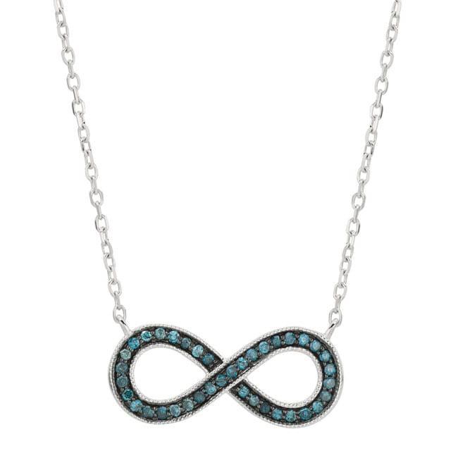 14KT White Gold 0.14ct Diamond Women's Infinity Necklace ...