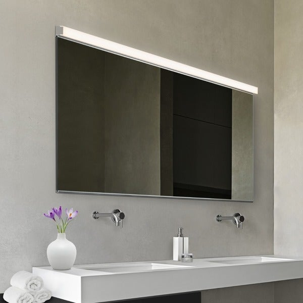 Sonneman lighting vanity polished chrome 48 inch slim led bath bar free shipping today for 48 inch bathroom vanity light