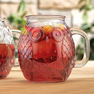 Outdoor Living 16 oz Owl Glass Mugs Set Of 4