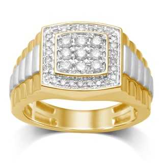 Unending Love 10K White/Yellow Gold and Diamond Ring
