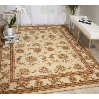 Nourison Silk Touch Ivory Area Rug (8' x 11')