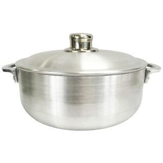 Heavy Guage Caldero Silver-colored Aluminum 19.8-quart Braiser Pot