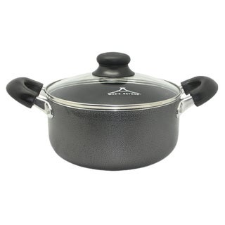 Wee's Beyond Black Aluminum 10-quart Non-stick Stock Pot with Glass Lid