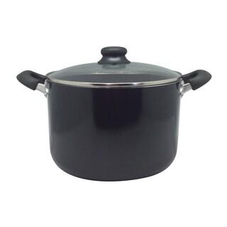 Wee's Beyond Black Aluminum Alloy 10-quart Deep Stock Pot