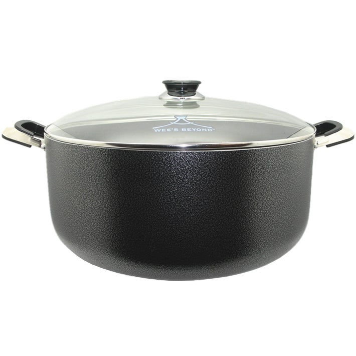 BEYOND Large 24-quart Stock Pot (24 QT), Black, Size Over...