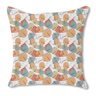 Glowing Autumn Burlap Pillow Single Sided