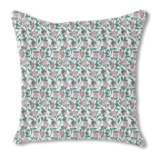 In the English Rose Garden Burlap Pillow Double Sided